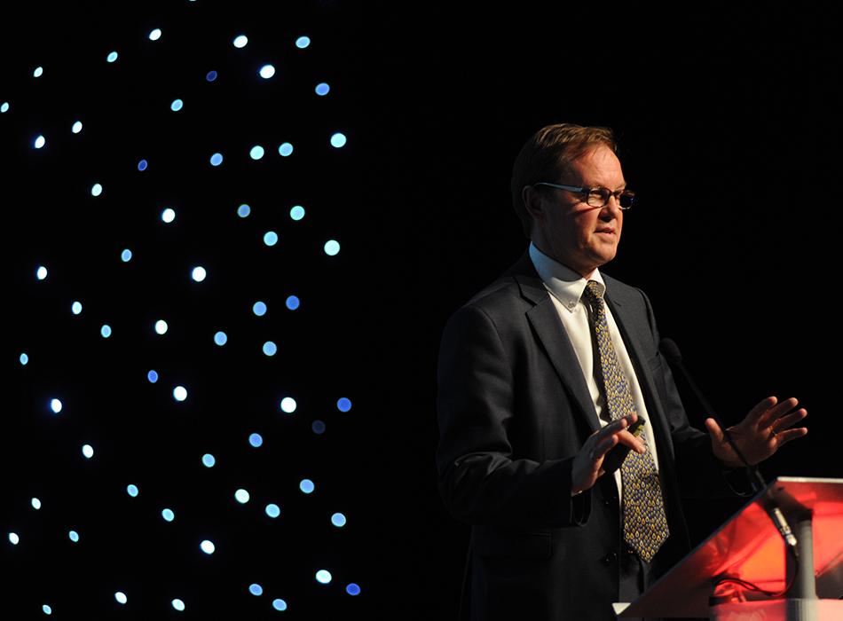 Professor Bill Lucas delivering Key Note speech at Thurrock Teaching Awards.